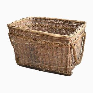 Large Antique Wicker Mill Basket