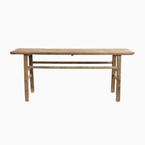 Large Antique Elm Console Table