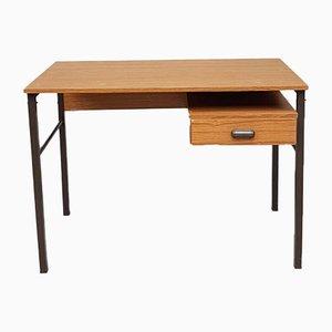 Industrieller Mid-Century Schreibtisch mit Doppelsäule