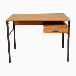 Mid-Century Industrial Office Double Pedestal Desk