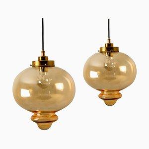 Lampes à Suspension Style Raak, 1960s, Set de 2