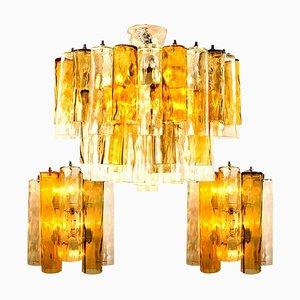 Lampade grandi, Due luci da parete, Lampadario One di Barovier & Toso, set di 3