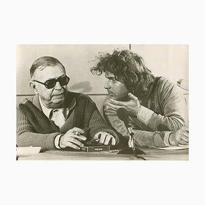 Jean-Paul Sartre with Daniel Cohn-Bendit, 1968