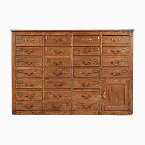 Wooden Cupboard with 25 Drawers and One Cupboard