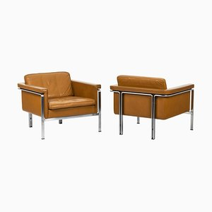 Armchairs in Leather by Horst Brüning, 1960s, Set of 2