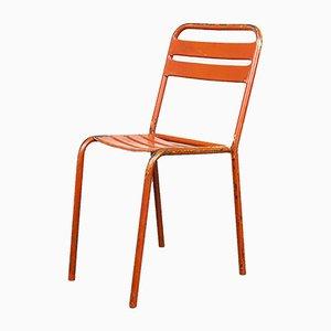Rote Französische Tolix T2 / T1 Esszimmerstühle aus Metall, 1950er, 6er Set