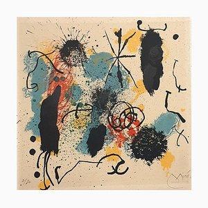 Joan Miro - Ich arbeite wie ein Gärtner - Lithographie - 1964