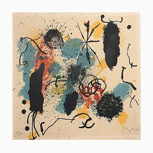 Joan Miro - Je travaille comme un jardinier - Lithographie - 1964
