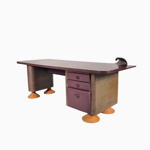 Postmoderner Schreibtisch mit Geschwungener Ecke, 1980er
