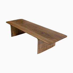 Tavolino da caffè Shave in quercia e noce di Cedric Breisacher