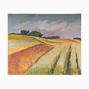 Paesaggio di campi in campagna, XX secolo