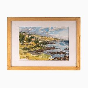 Seaside, 20th Century, Watercolor