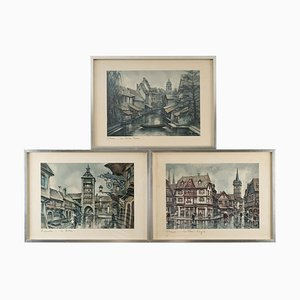 Framed Reproductions, Set of 3