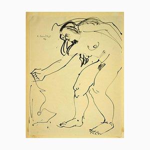 Tibor Gertler - Nude of Woman - Pen Drawing - 1947