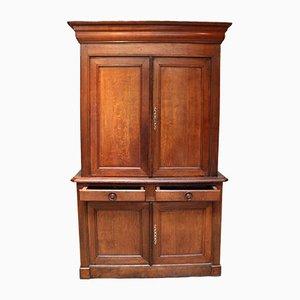 Rustic French Oak Linen Press or Cupboard
