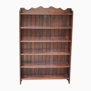 Solid Oak Open Bookcase
