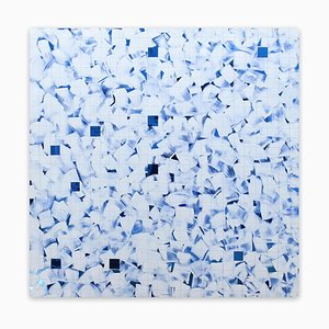 Blue, (Abstract Painting), 2016