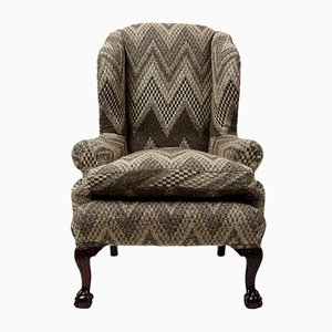 Victorian Wingback Armchair with Pierre Frey Upholstery
