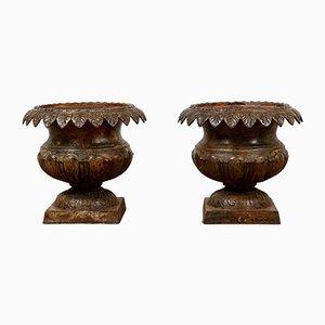 Gusseisen Urnen von Andrew Handyside, 2er Set