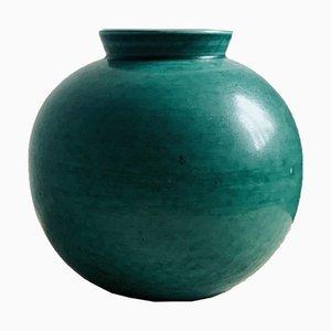 Sphärische Argenta Vase von Wilhelm Kage