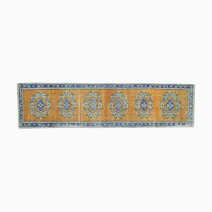 Vintage Turkish Oushak Wool Runner Rug