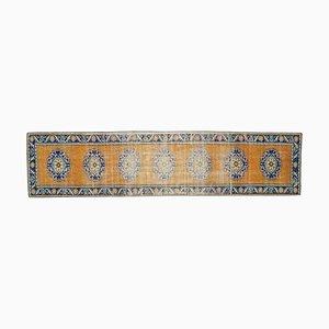 Vintage Turkish Oushak Wool Runner Rug