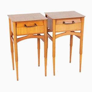 Mid-Century Italian Maple Bedside Tables, Set of 2