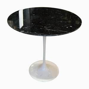 Black Marble Gueridon Table by Eero Saarinen for Knoll International