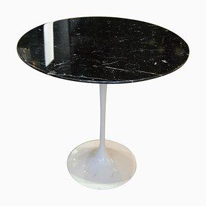 Schwarzer Gueridon Tisch aus Marmor von Eero Saarinen für Knoll International