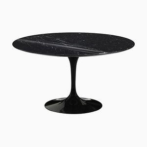 Marquina Marble and Black Rilsan Tulip Table by Eero Saarinen for Knoll International