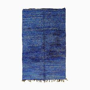 Tappeto berbero blu e bianco, XX secolo, anni '80