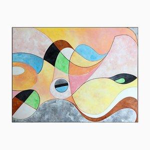 Cuadro de paisaje abstracto, 2019