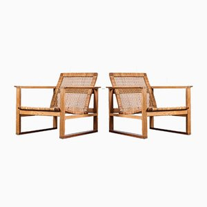 Model 2256 Easy Chairs by Borge Mogensen for Fredericia, 1960s, Set of 2