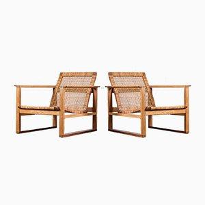 Modell 2256 Sessel von Borge Mogensen für Fredericia, 1960er, 2er Set