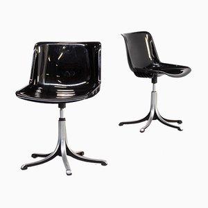 Sillas de escritorio Modus de Osvaldo Borsani para Tecno, años 70. Juego de 2
