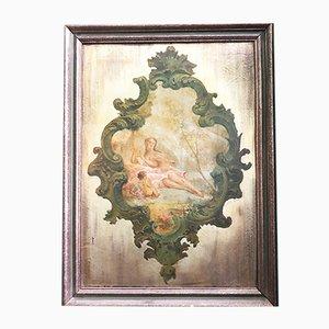 Pintado en tableta de oro, década de 1900