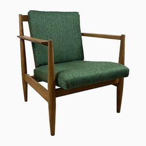 Scandinavian Wooden Armchair, 1960s