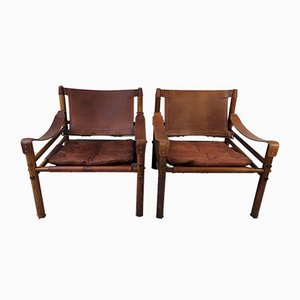 Rosewood Sirocco Easy Chairs by Arne Norell, 1971, Set of 2