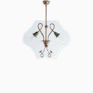 Lámpara de araña italiana de Pietro Chiesa para Fontana Arte, años 40