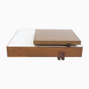 Mesa de centro vintage de madera de Armo Scarpa