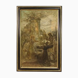 Pintura religiosa grande del siglo XIX