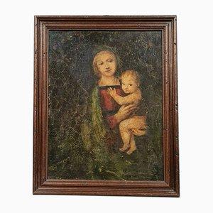 18th Century, Italian School, Oil on Canvas After Raffaello Has Signed Decipher