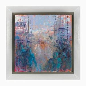 Renato Criscuolo, in Town, Oil on Canvas