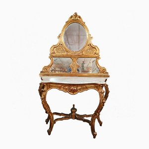 Consola estilo Louis XV, década de 1800