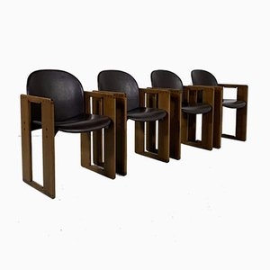 Dialogo Dining Chairs by Afra & Tobia Scarpa for B&B Italia, 1970s, Set of 4