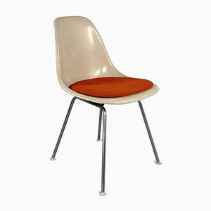 DSX Side Chair with Red Cushion by Charles & Ray Eames for Herman Miller, 1960s