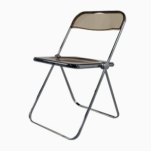 Smoke Plia Folding Chair by Giancarlo Piretti for Castelli / Anonima Castelli, 1960s