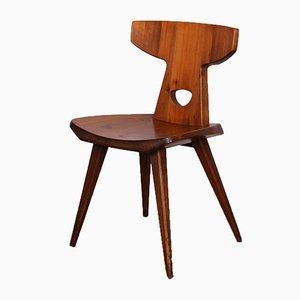 Sedia in pino di Jacob Kielland-Brandt per I. Christiansen, 1960