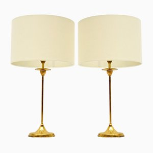 Tischlampen aus Messing, 1970er, 2er Set