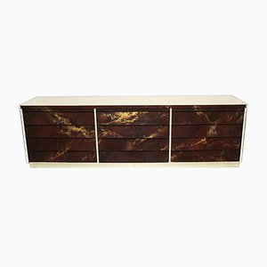 Brass Lacquered Dresser by Maison Jansen, 1970s